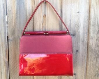 Vintage Bright Cherry Red Miss America Smartaire Handbag Classy Rare