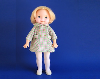 Vintage My Friend Mandy Doll wearing Coat, Tights and Shoes Fisher Price 1978 210 1970s Blonde Clothes Outfit