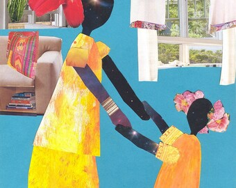 African American Art. Dancin' in the Living Room Print
