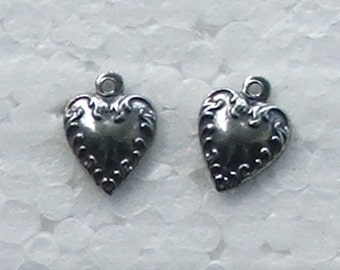 Tiny Heart Pewter Charm Comes with Free Jump Ring