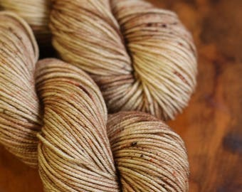 Hand Dyed 2 OAK, Worsted, 8 Ply, Superwash, Two of a Kind, Speckles, Ready to Ship, Knitting, Crochet, Yarn