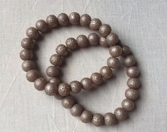 Light Metallic Bronze Textured Stretch Bracelet