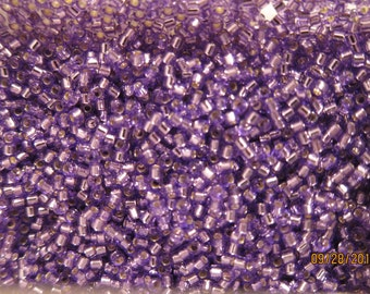 DB-1347, Miyuki Delica Beads, Size 11/0, Silver-Lined Dyed Purple - Available in 5g, 7.5g & 10g Pkgs and also in Larger Pkgs