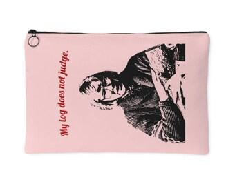 The Log Lady - My Log Does Not Judge - Margaret Lanterman Twin Peaks Accessory Pouch, Handbag