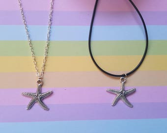 Starfish necklace, Nautical necklace, Starfish jewellery, Nautical jewellery, Pendant necklace, Starfish, Nautical, Beach, Holiday, Summer