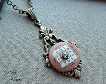 75% Off Sale- Pendulum, Shadows of Time Steampunk Necklace