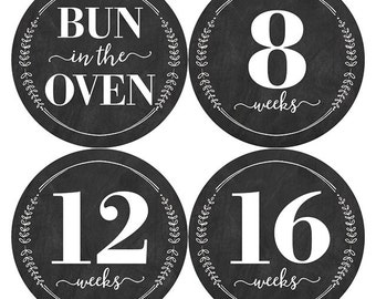 Chalkboard Pregnancy Stickers, Chalkboard Belly Sticker, Pregnancy Milestone Sticker, Wreath Belly Stickers, Belly Bump Sticker, Baby Shower