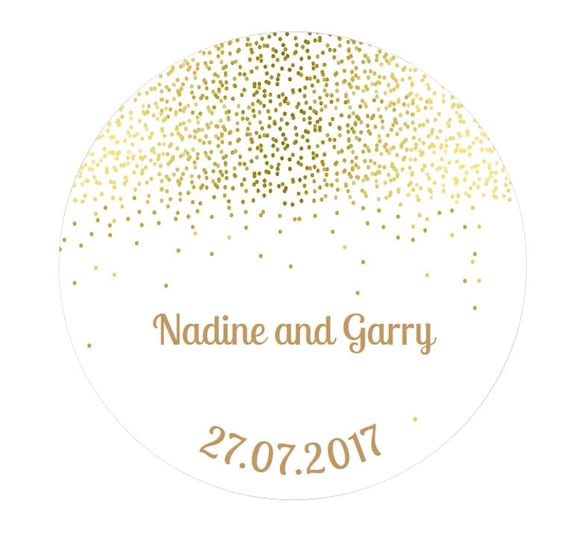 Personalised wedding engagement stickers