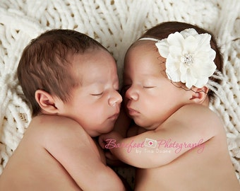 Baptism Headbands Baby Girl Hair Bows, Ivory Headbands Baby Shower, Vintage Headbands, Newborn Headbands, Flower Baby Headbands