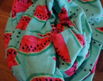 Infinity Scarf//Flannel//Watermelon//Gifts for Her//Handmade//Mother's Day