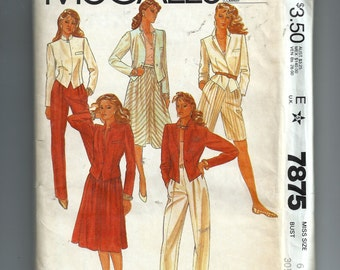 McCall's Misses' Jacket, Skirt, Pants, and Shorts Pattern 7875
