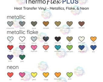 ThermoFlex Plus Glitter HTV Color Chart, Digital Download,  Heat Transfer Vinyl Chart, Shirt Vinyl Business Color Chart, PNG and PDF file