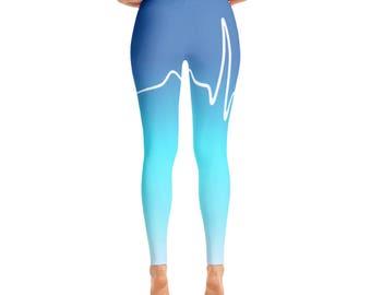 Heart Beat / Yoga / workout leggings / yoga pose / workout pants / gym pants / cardio / yoga leggings / yoga pants / yoga wear / leggings