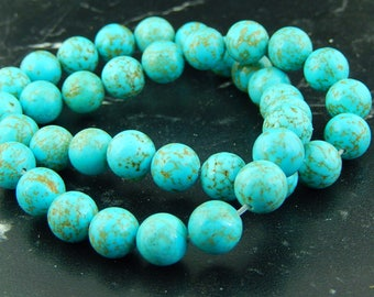 Turquoise 10mm set of 10 beads