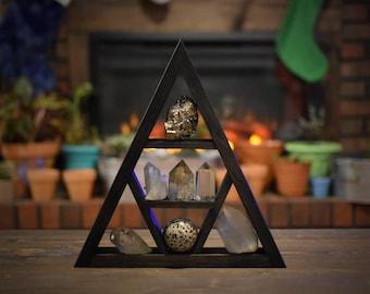 Signature Backless Triangle Crystal Display Shelf
