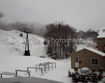 Snowy Mornings, Ski Mountain, Digital download