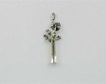 Sterling Silver 3-D Sequoia Redwood Tree Charm