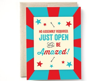 Be Amazed Birthday Card, Anniversary Card, Congrats Card, Every Occasion Card