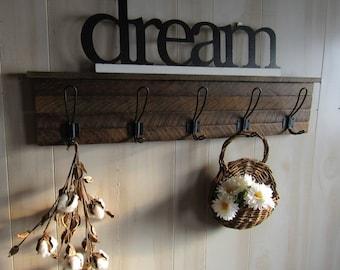 Merveilleux Reclaimed Wood Coat Rack  Farmhouse Decor  Entryway Organizer  Coat Rack  Wall Mount