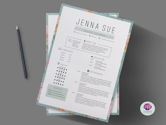 Vintage CV template cover letter template reference letter