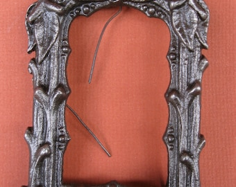 Antique cast iron photo frame vines and leaves