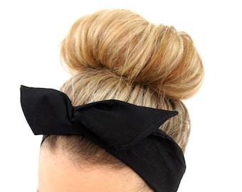 Black Boho Wire Headband, Black Headband, Boho Headband, Baby Headband, Toddler Headband