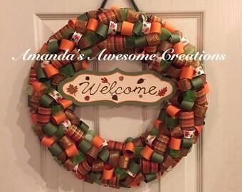 Welcome Fall2 Wreath