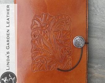 Handmade Leather Western Mini Legal Pad Cover