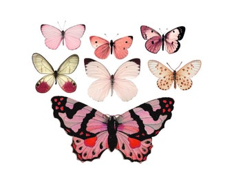 """Vintage Pink Butterfly Temporary Tattoos - """"Flitter & Fly"""""""