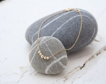Minimalist gold beads anklet, layering anklet, tiny beads anklet, gold anklet, dainty anklet, gold summer anklet, minimalist anklet