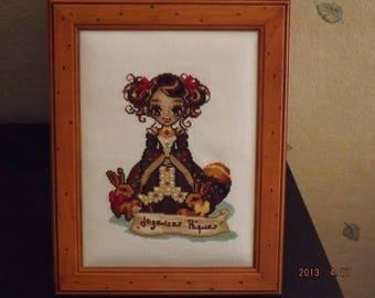 Princess chocolate embroidered cross stitch chart