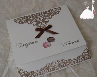 Delicious Macaron wedding announcements
