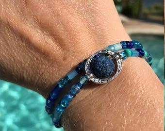 Essential Oil Bracelet in Blue