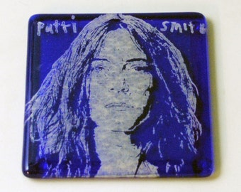 Patti Smith Fused Glass Coaster, Punk Rock, Blue Oyster Cult, Rock and Roll