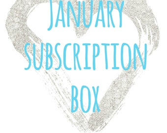 January Crystal Subscription Box ~ Monthly Subscription Box ~ Monthly Crystals