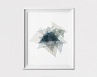 Minimal art print, Geometric print, Poster, Wall Decor, Abstract art poster, wall decor, Triangle art, Wall art, Home decor, ArtFilesVicky