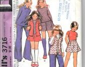 McCALL'S 3716 Girls P...