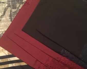 Lace-trimmed handkerchiefs