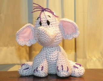 INSTANT DOWNLOAD - PDF - Heffalump Lumpy the elephant of Winnie the Pooh 8 inches amigurumi doll crochet pattern