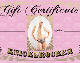 Gift Certificate for 50 Dollars to spend at Knickerocker