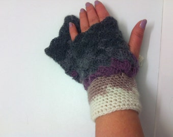 Gradient mittens Mittens arm warmers