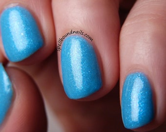 Bluebell Flames - Custom Harry Potter Inspired Blue Glow in the Dark Nail Polish