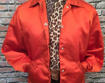 Vintage 1980's Bomber Jacket. Fleese Lined  Autumn Color & Weight            size Medium