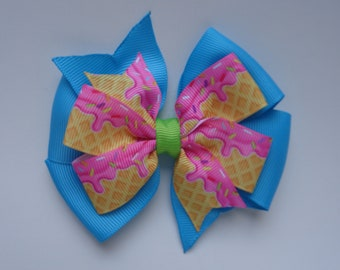 Ice Cream Hair Bow