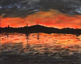 Island Acrylic Sunset