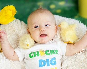 Newborn easter etsy newborn boy easter outfit first easter outfit chicks dig me newborn take home outfit onepiece easter outfit easter 2015 baby shower gift negle Images