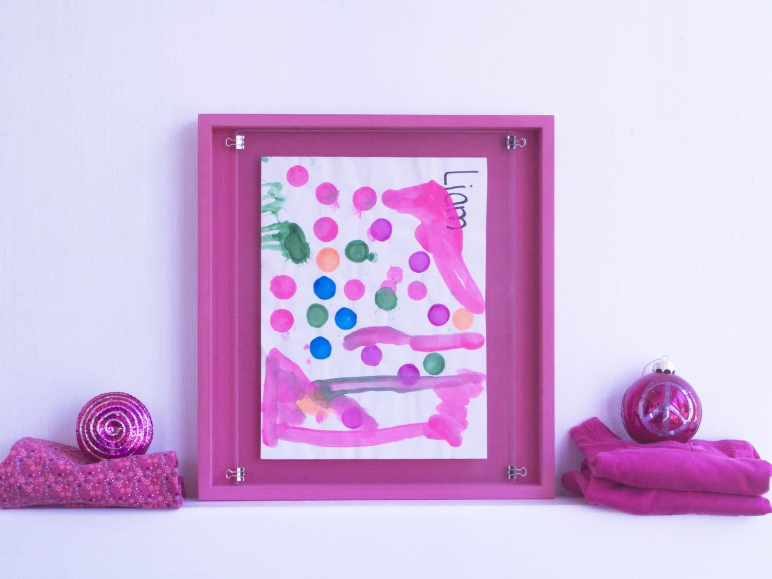 Display frame pink kids children art 11x14 8x10 5x7 front load zoom jeuxipadfo Image collections