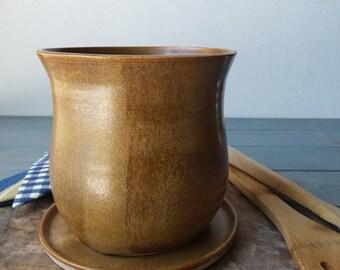 Kitchen Utensil Holder, Kitchen Storage, Ceramic Kitchenware, Rustic  Utensil Jar, Pottery Utensil