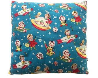 Cushion 34 x 34cm in American cotton Michael Miller UNIQUE PIECE!