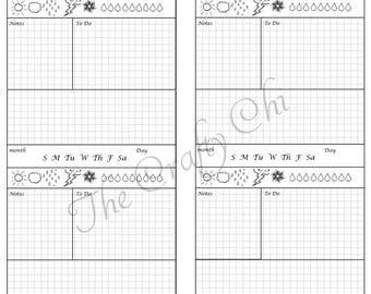 Hobinichi X2/Insert For Your Traveler's Notebook - Standard / Regular  digital download Printable